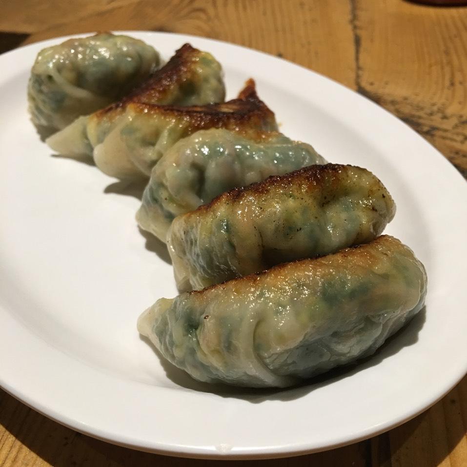 Mighty Veggie Dumpling (Kale, Zucchini, Free Range Egg, Shiitake Mushroom) at Mimi Cheng's on #foodmento http://foodmento.com/place/3389