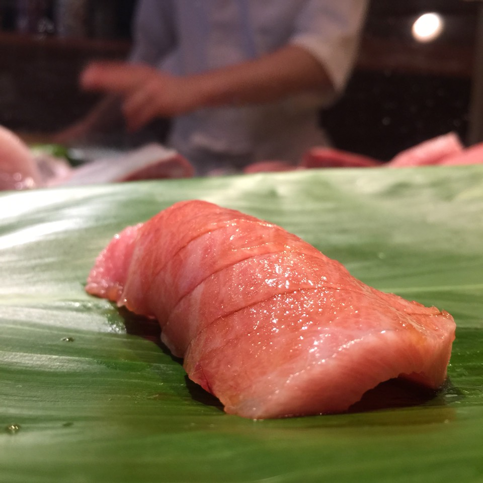 Pink Fatty Tuna (O-Toro) at Sushi Dojo NYC on #foodmento http://foodmento.com/place/3488