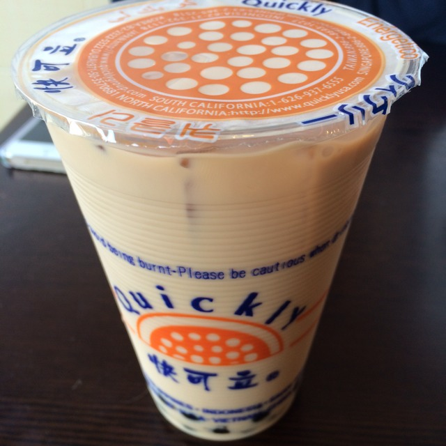 Bubble Milk Black Tea at Quickly 快可立 on #foodmento http://foodmento.com/place/3529