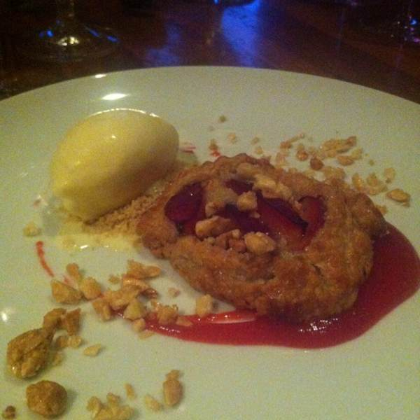 Plum Crostada (Almond Ice Cream) at Hearth on #foodmento http://foodmento.com/place/357
