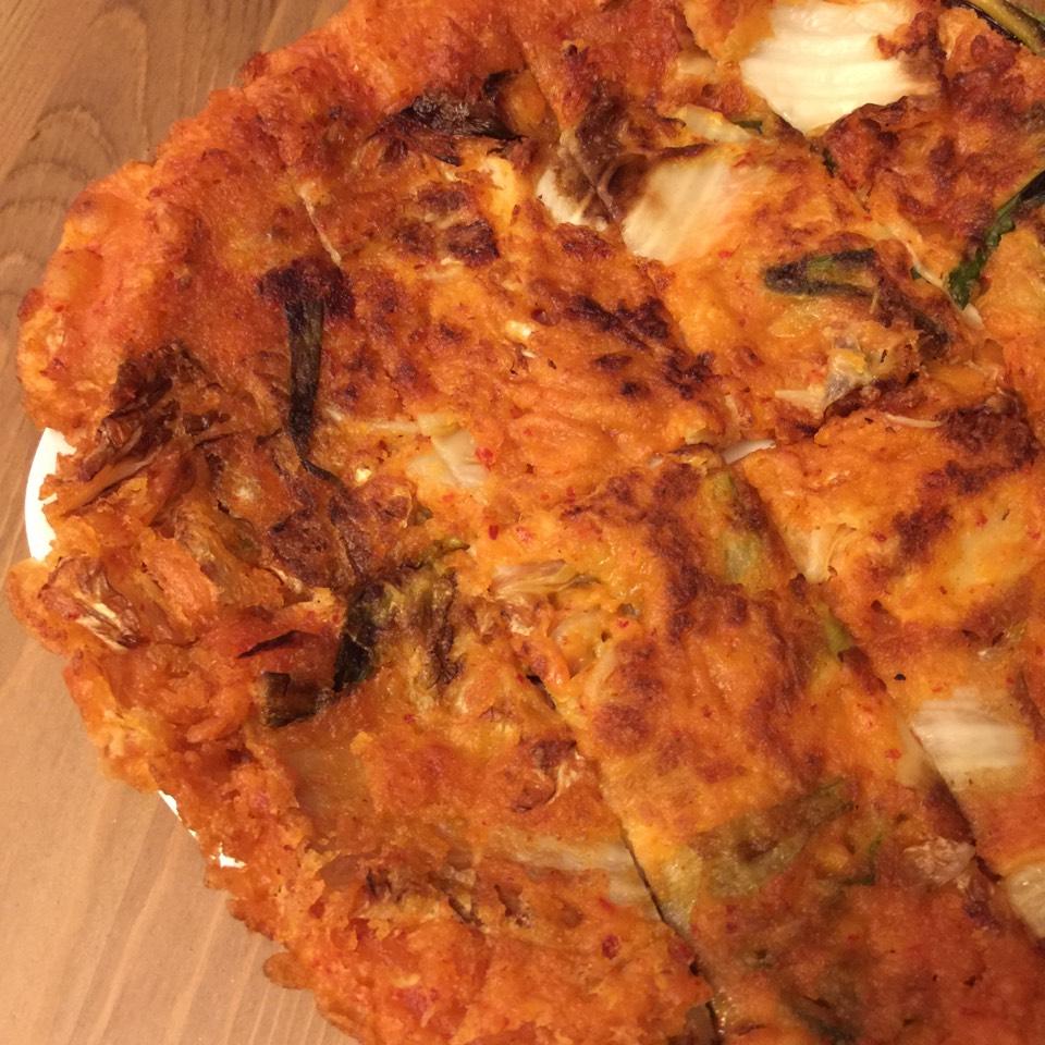 Kimchi Pajun (Pancake) at The Kunjip on #foodmento http://foodmento.com/place/3594