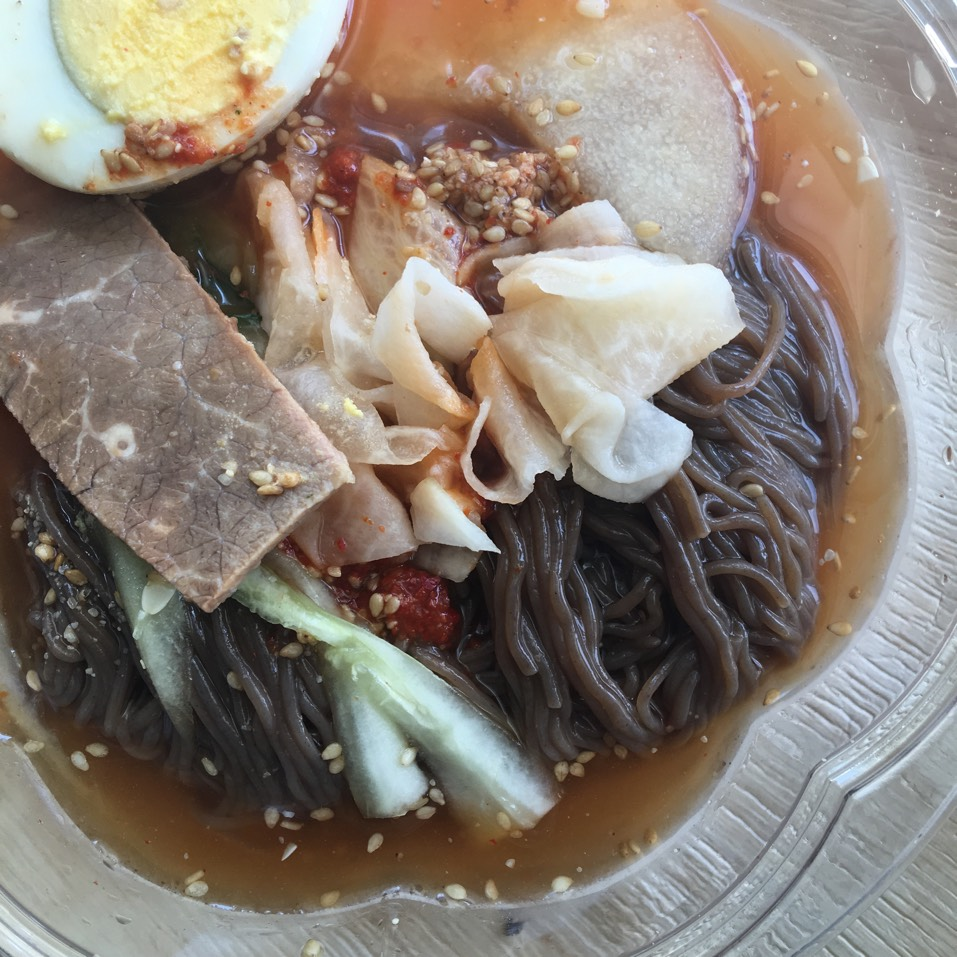 Nang Myun (Cold Buckwheat Noodle) at The Kunjip on #foodmento http://foodmento.com/place/3594