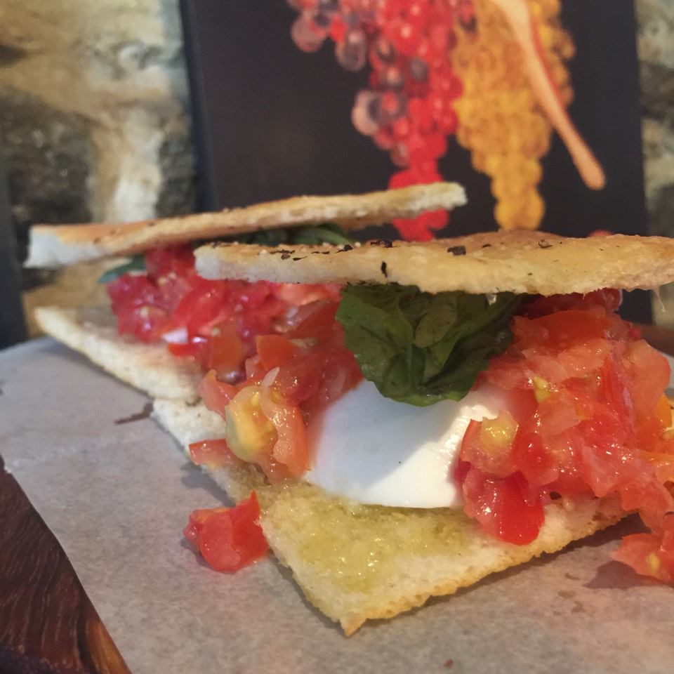Bubi Panini (Buffalo Mozzarella, Tomatoes, Basil) at Gaia Italian Cafe on #foodmento http://foodmento.com/place/3654