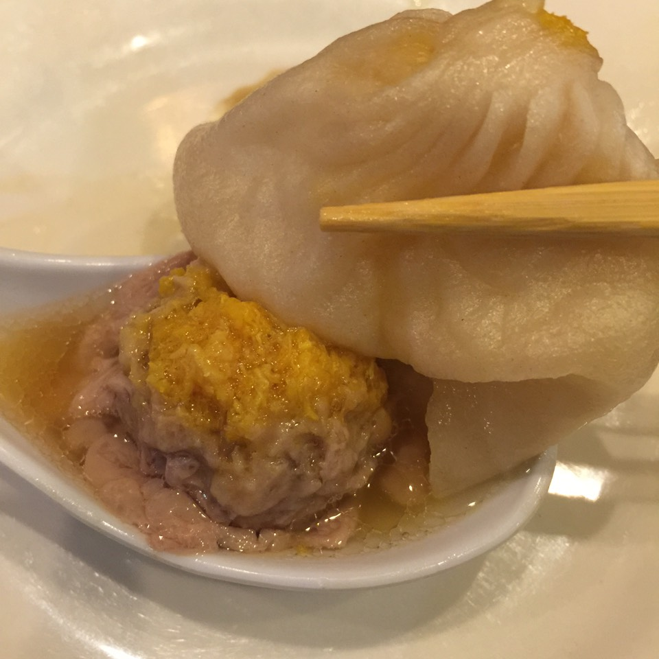 Crab & Pork Soup Dumplings (Xiao Long Bao) at Shanghai Asian Manor on #foodmento http://foodmento.com/place/3809