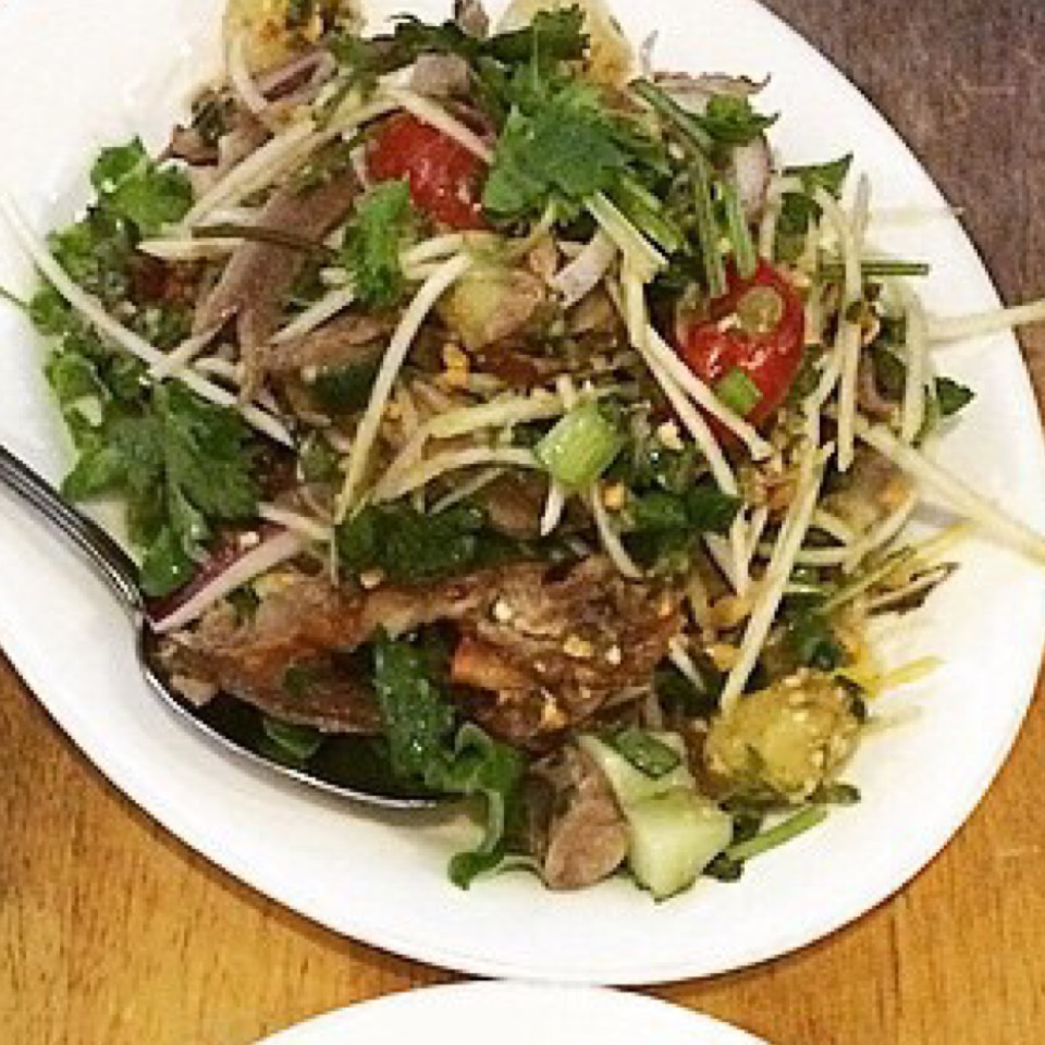Roasted Duck Salad at SriPraPhai Thai Restaurant on #foodmento http://foodmento.com/place/383