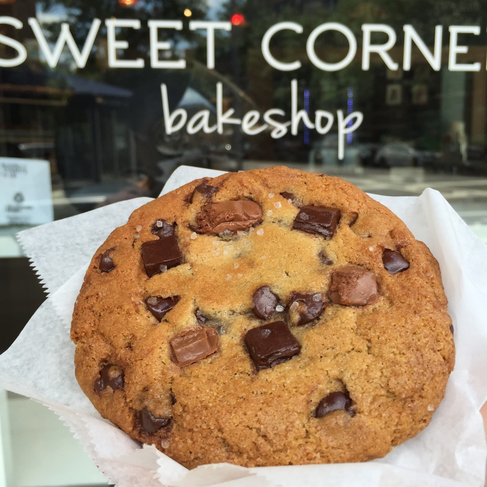 Chocolate Chip & Sea Salt Cookie at Sweet Corner Bakeshop on #foodmento http://foodmento.com/place/3961