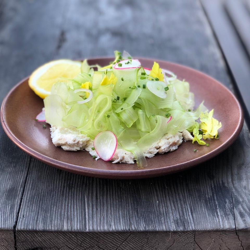 Smoked Mahi Fish Dip, Celery, Radish, Crackers at Son of a Gun on #foodmento http://foodmento.com/place/4003