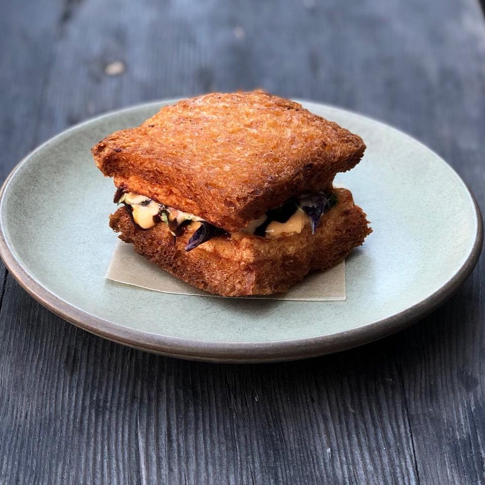Shrimp Toast Sandwich, Herbs, Sriracha Mayo at Son of a Gun on #foodmento http://foodmento.com/place/4003