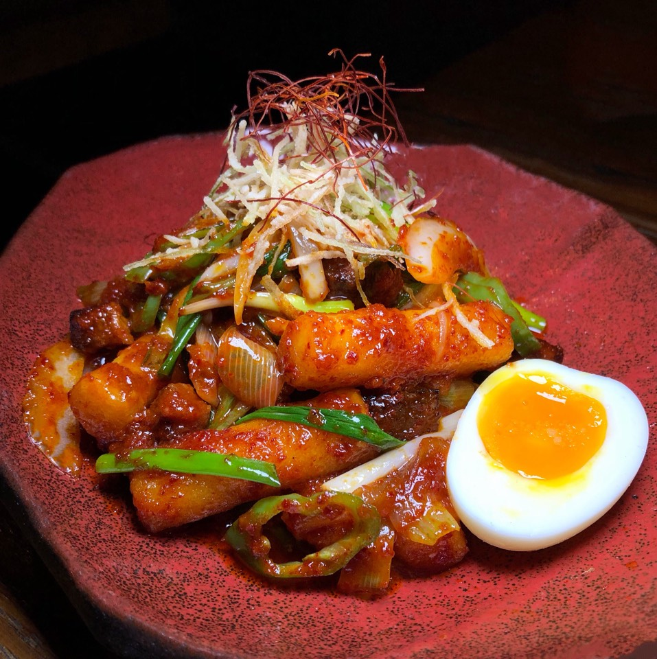 Spicy Ricecake, Pork Belly (Ddukbokki) at Hanjan on #foodmento http://foodmento.com/place/4059