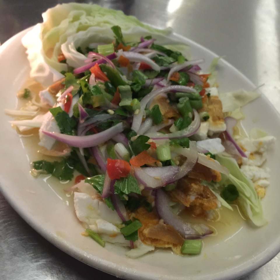 Yum Khai Kem (Salty Eggs Spicy Salad) at Zabb Elee (CLOSED) on #foodmento http://foodmento.com/place/4091