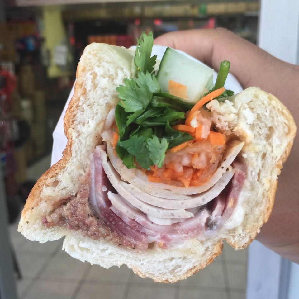 Banh Mi Pate Supreme (Pork Liver Pate, Thit Nguoi, Cha Lua) at Saigon Vietnamese Sandwich Deli on #foodmento http://foodmento.com/place/4114
