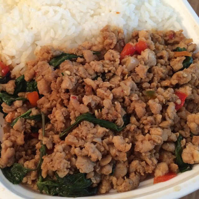 Pad Pra Krao (Basil Chicken) at Chao Thai ร้านชาวไทย on #foodmento http://foodmento.com/place/424