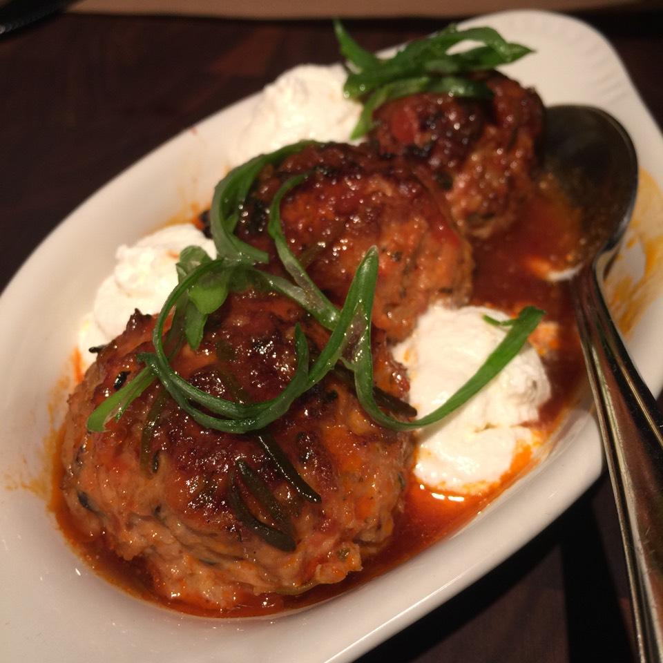 Rabbit Meatballs, Black Olives, Ricotta on #foodmento http://foodmento.com/dish/18206