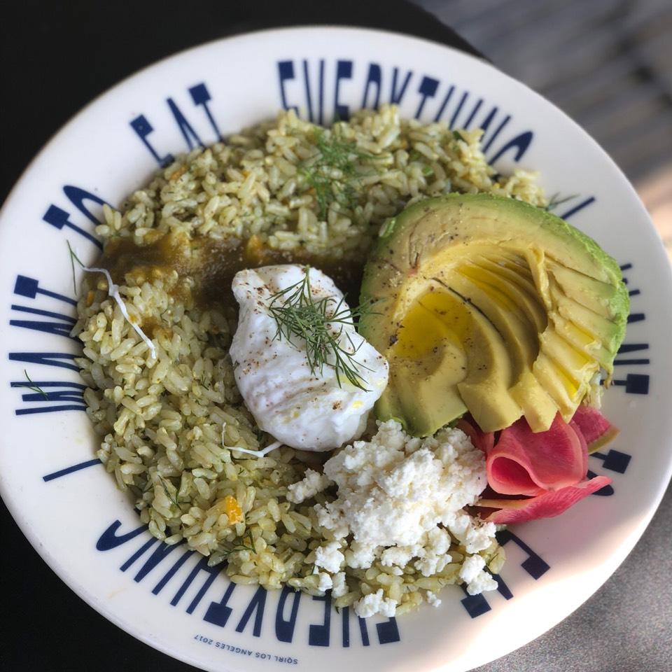 Sorrel Rice Bowl (Brown Rice, Sorrel Pesto) at Sqirl Kitchen on #foodmento http://foodmento.com/place/4429