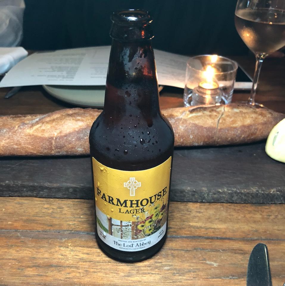 The Lost Abbey Farmhouse Lager Beer at République (Republique) on #foodmento http://foodmento.com/place/4460