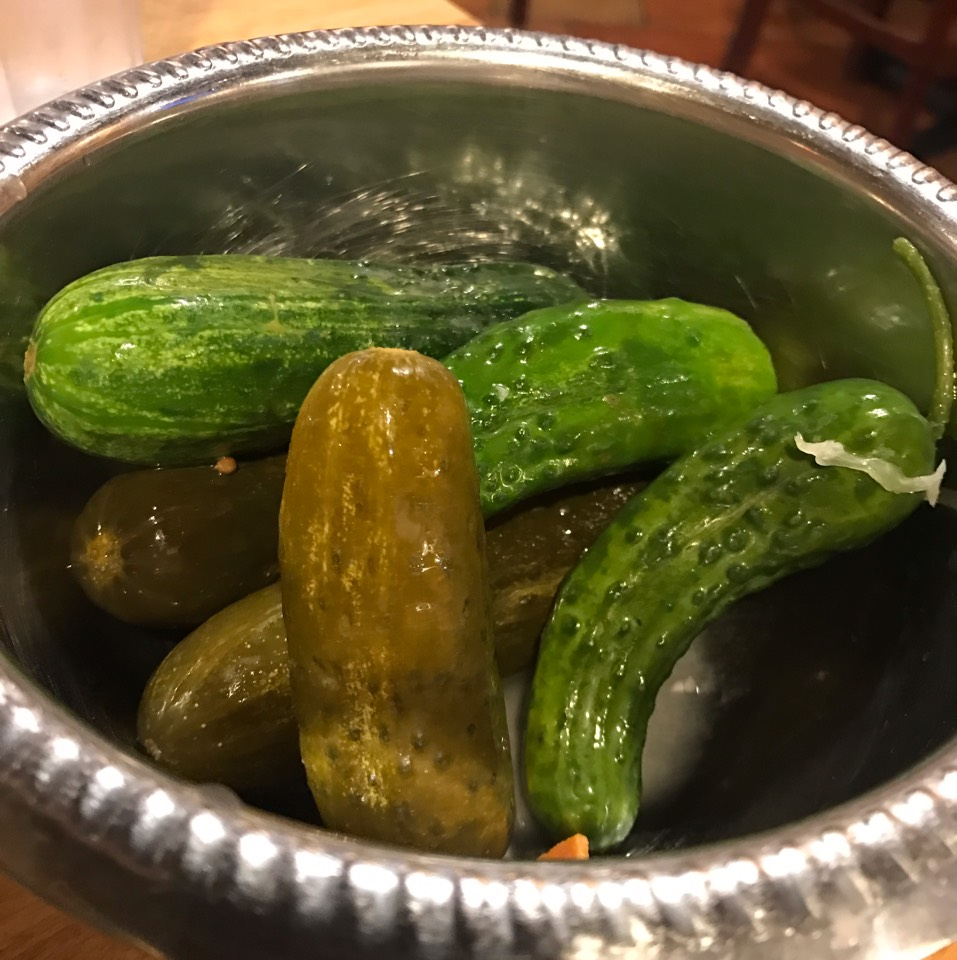 Cucumbers And Pickles at Sarge's Delicatessen on #foodmento http://foodmento.com/place/4887