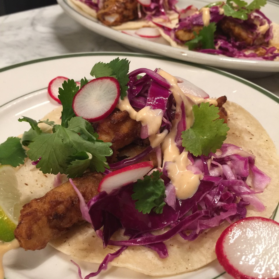 Baja Fish Tacos at Greenpoint Fish & Lobster Co. on #foodmento http://foodmento.com/place/4959