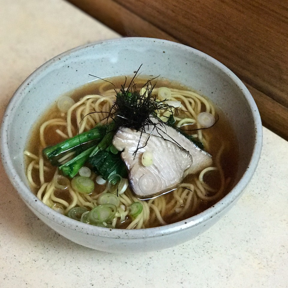 Okonomi Shoyu Ramen (Mottainai Broth, Roasted Fish) at Yuji Ramen / Okonomi on #foodmento http://foodmento.com/place/5178