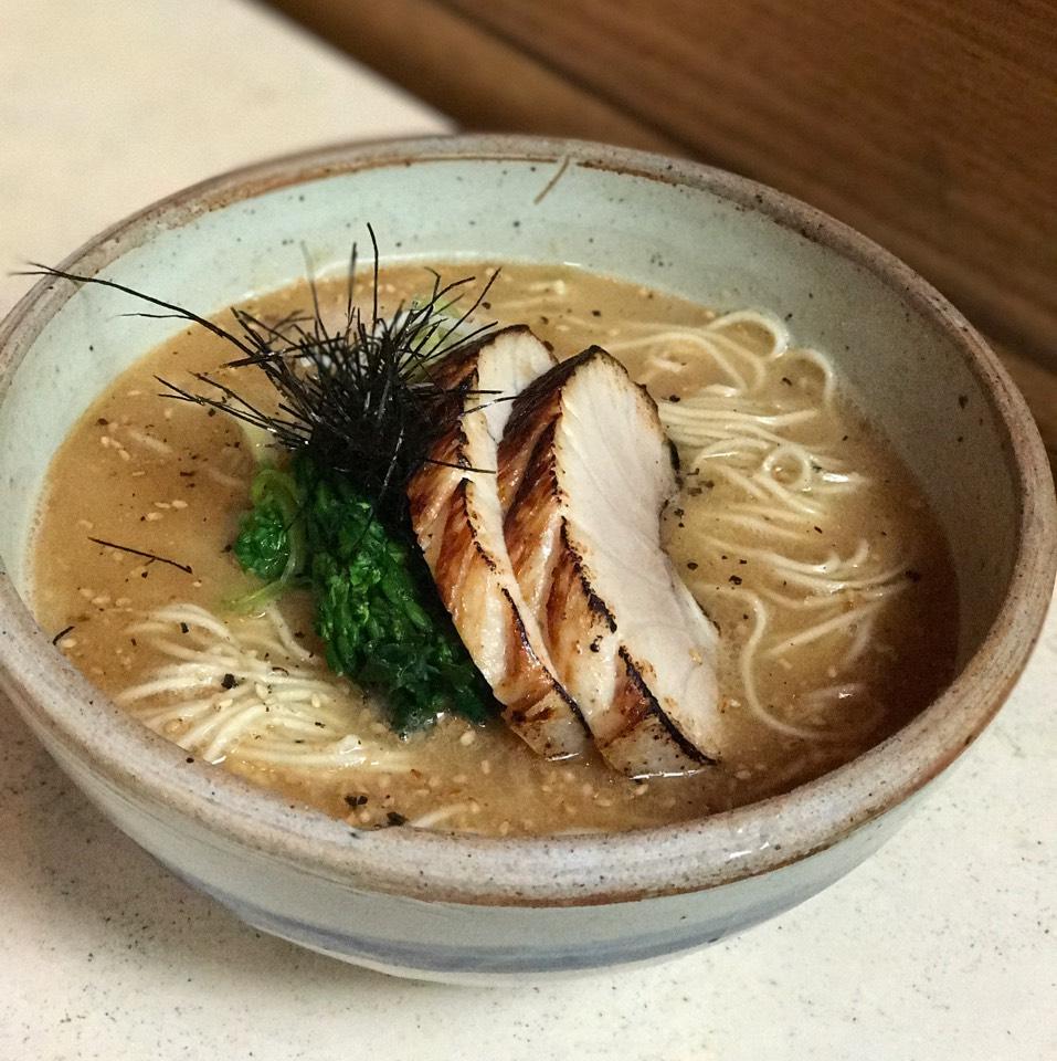 Tunakotsu Ramen (Tonkotsu Style, Tuna Belly Chashu, Yuzu Kosho) at Yuji Ramen / Okonomi on #foodmento http://foodmento.com/place/5178