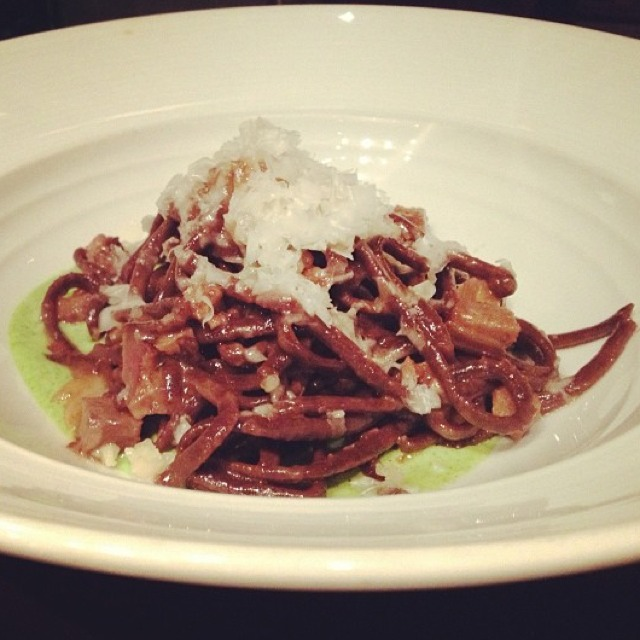 Chocolate Pasta w Beer Braised Pork Cheek from SPQR on #foodmento http://foodmento.com/dish/3005