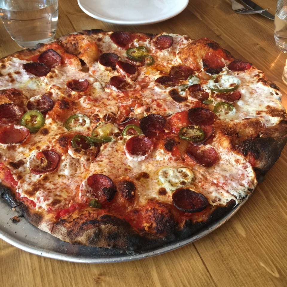 The Colony Pizza Pie (pepperoni, pickled chili, and honey) on #foodmento http://foodmento.com/dish/24119