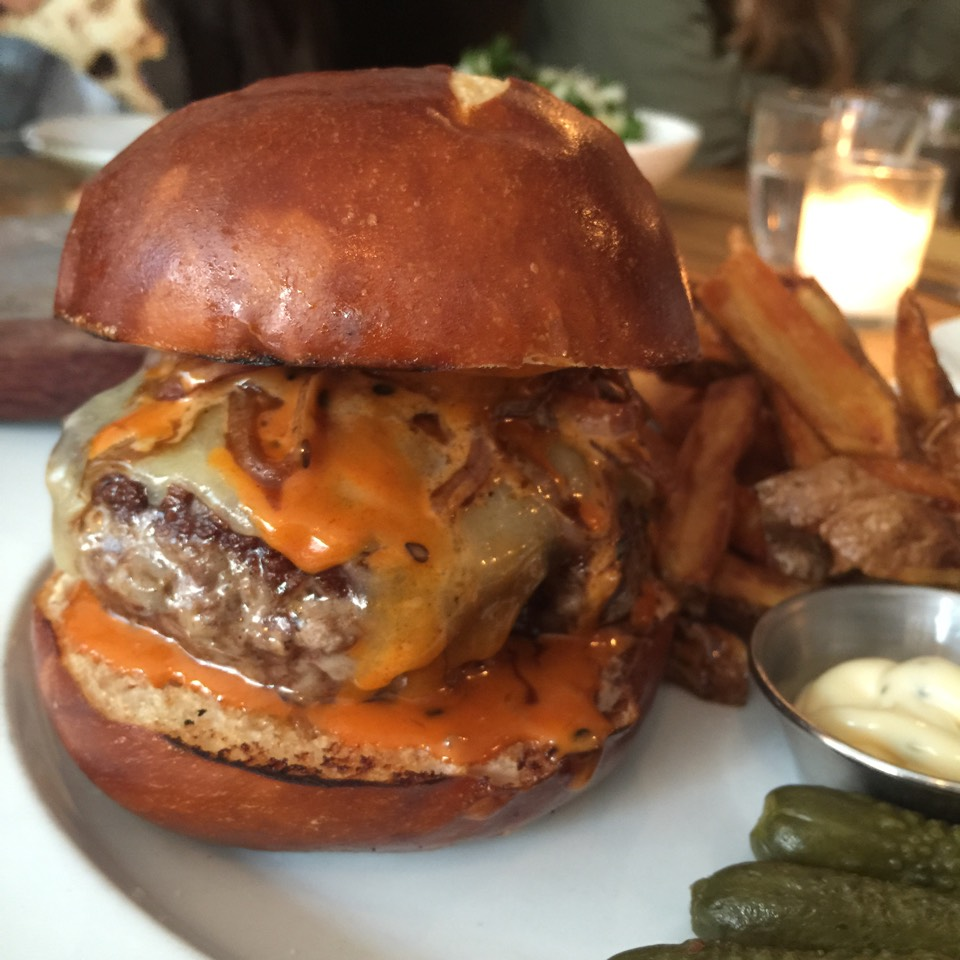 Burger (dry aged beef, charred onions, Grafton cheddar cheese, Emmy sauce) on #foodmento http://foodmento.com/dish/27537
