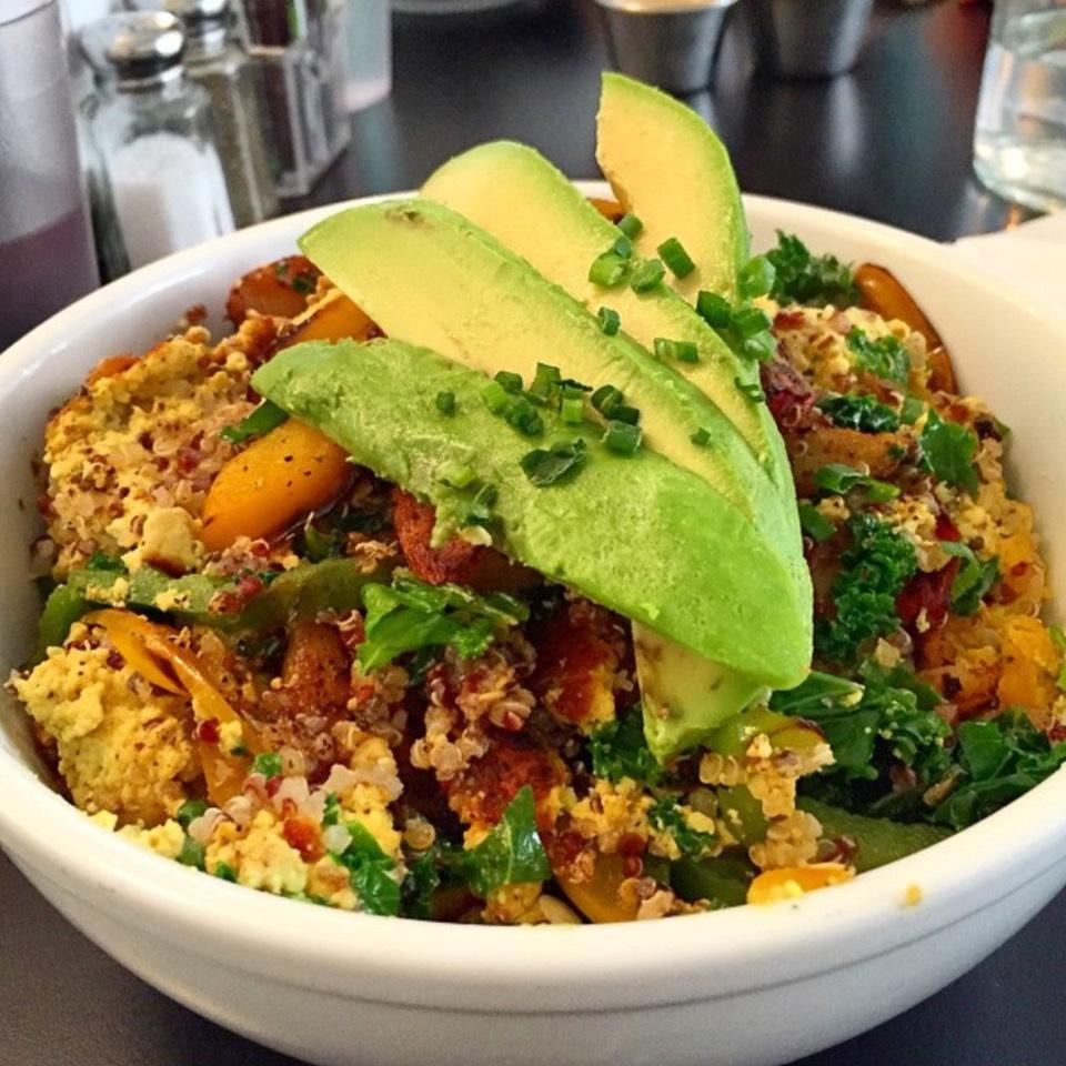 Awesome Bowl (Tofu Scramble, Quinoa, Kale, Avocado...) at Champs on #foodmento http://foodmento.com/place/5927