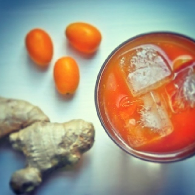 Cocktail (Kumquat, Ginger) from Aziza on #foodmento http://foodmento.com/dish/2991