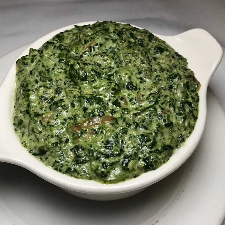 Creamed Spinach at Delmonico's Restaurant Steak House Grill on #foodmento http://foodmento.com/place/6027