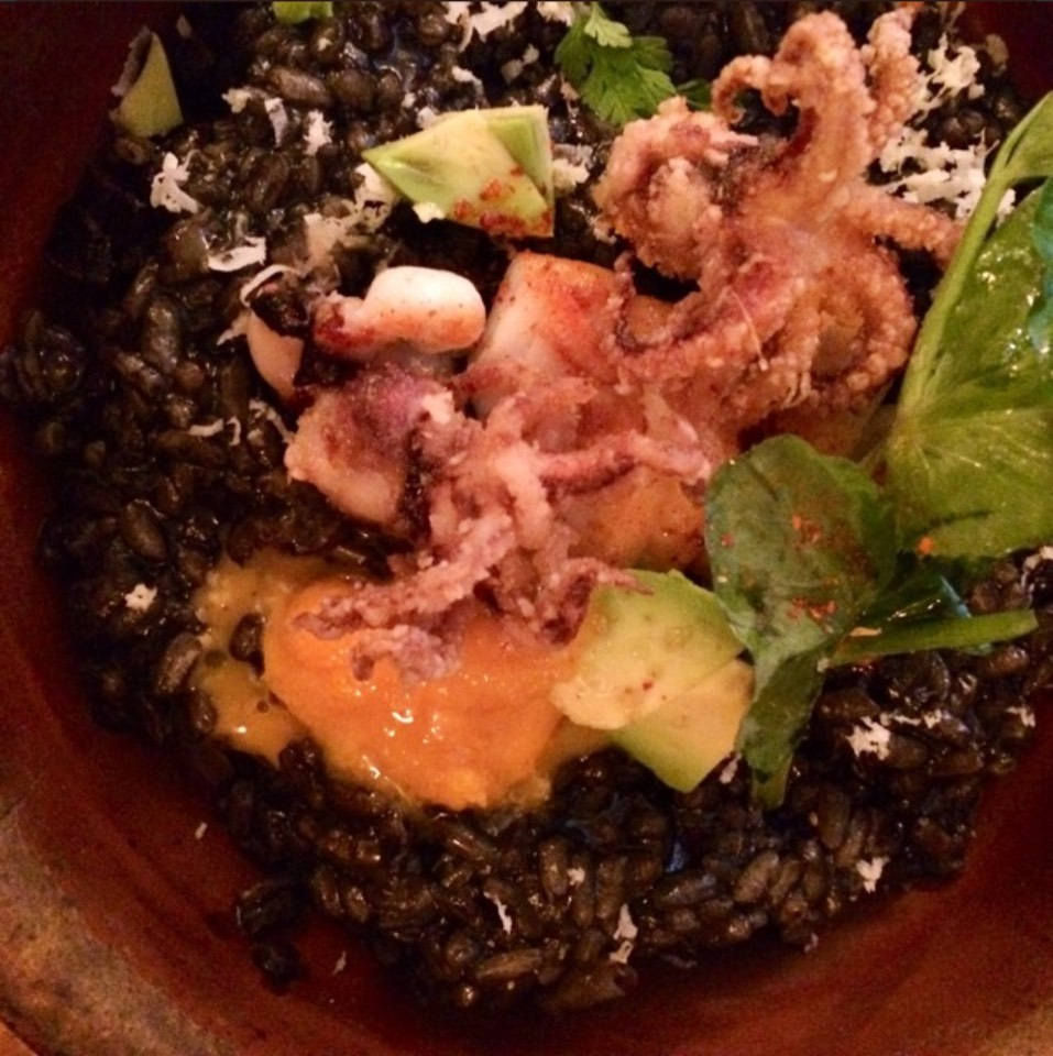 Arroz Negro (Calasparra Rice, Snails, Wild Mushroom, Iberico Ham...) at Tertulia on #foodmento http://foodmento.com/place/618