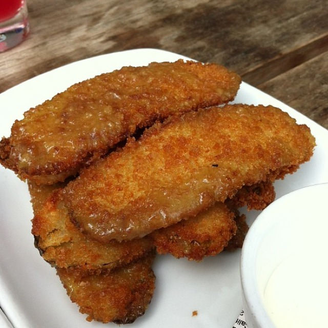 Buffalo Fried Pickles at Second Bar + Kitchen on #foodmento http://foodmento.com/place/669