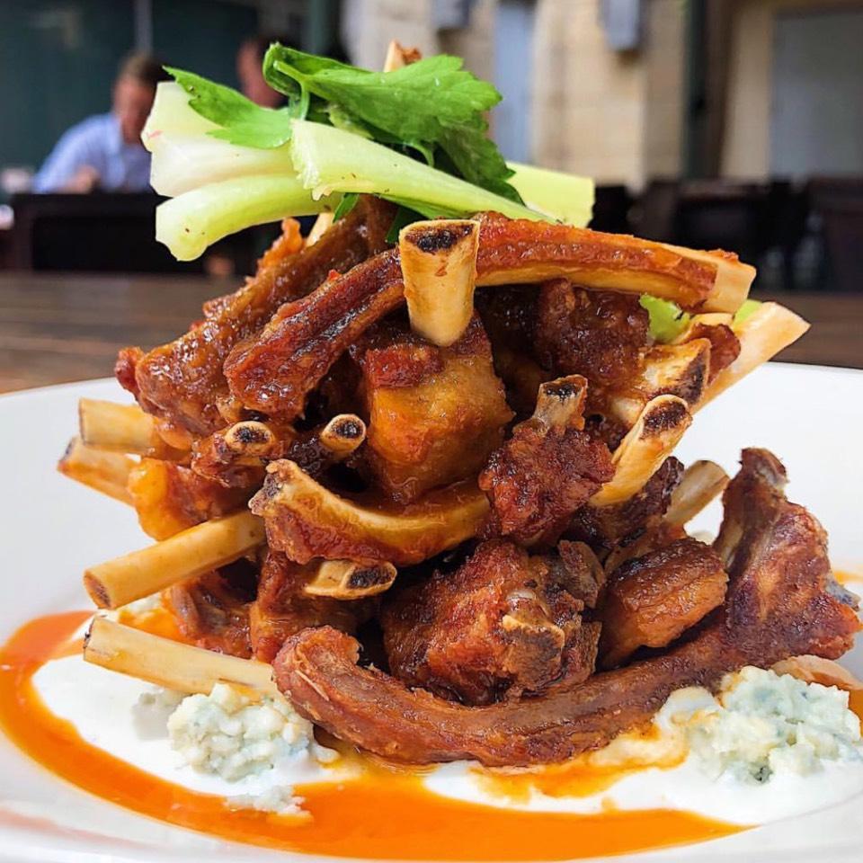 Crispy Wild Boar Ribs at Lambert's Downtown BBQ on #foodmento http://foodmento.com/place/707