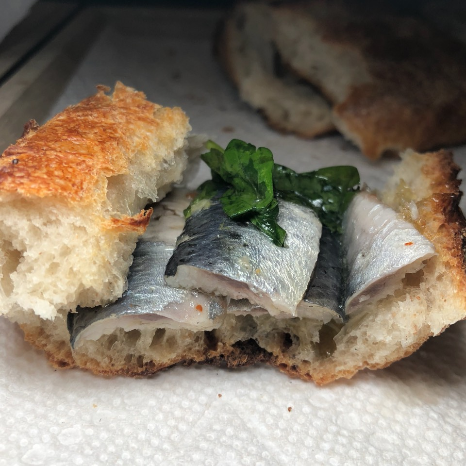 Oil Cured Sardines at Gjusta on #foodmento http://foodmento.com/place/7159
