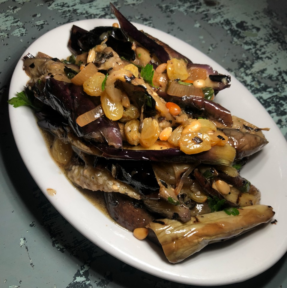 Eggplant, Pine Nuts, Raisin at Gjusta on #foodmento http://foodmento.com/place/7159