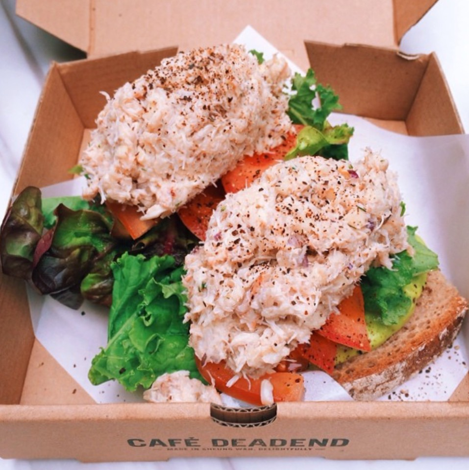 Crab Tartine at Café Deadend on #foodmento http://foodmento.com/place/7302