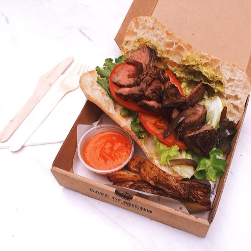 Steak Sandwich at Café Deadend on #foodmento http://foodmento.com/place/7302