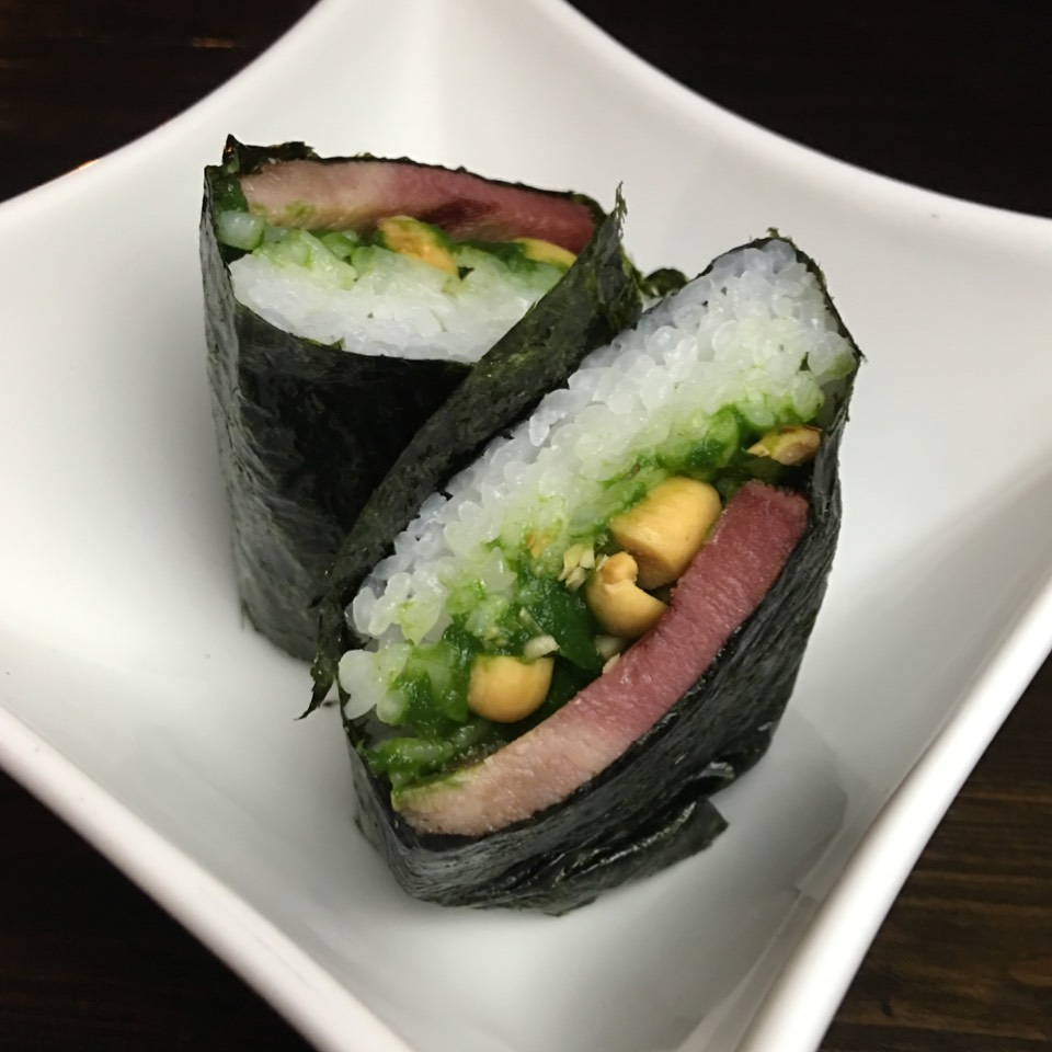 Corned Beef Tongue Musubi at Noreetuh on #foodmento http://foodmento.com/place/7661