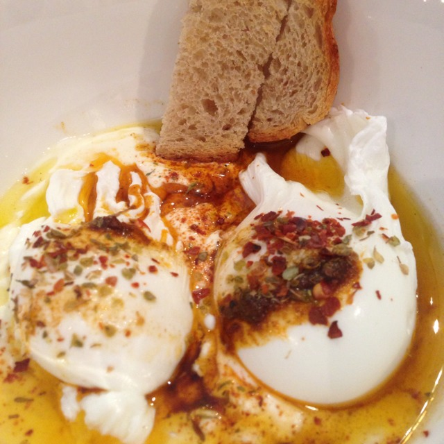 Turkish Eggs (2 Poached Eggs On Whipped Yoghurt) at Penny University on #foodmento http://foodmento.com/place/773