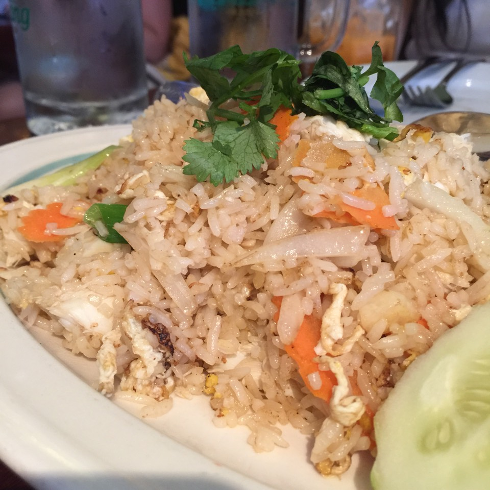 Crab Fried Rice at Ayada Thai on #foodmento http://foodmento.com/place/820