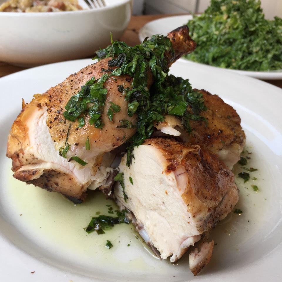Pollo Al Forno (JW Chicken and Salsa Verde) at Barbuto on #foodmento http://foodmento.com/place/824