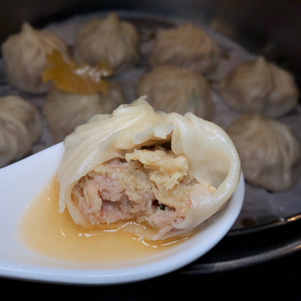 Crab & Pork Xiao Long Bao (Soup Dumplings) at Din Tai Fung Dumpling House #1 on #foodmento http://foodmento.com/place/8570