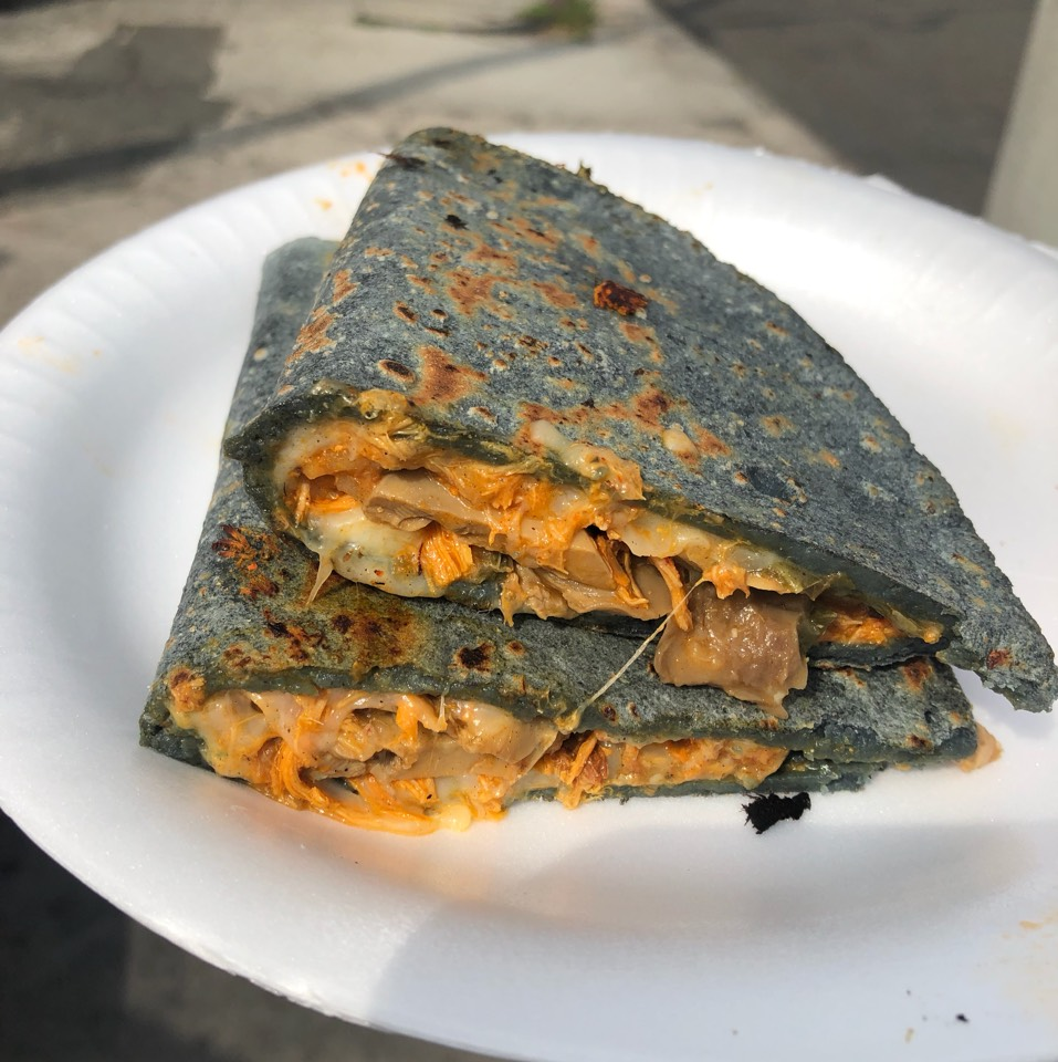 Mushroom Quesadilla at Blue Corn Quesadilla Lady on #foodmento http://foodmento.com/place/8571