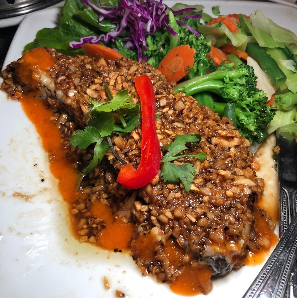 Pepper Seabass Steak at Jitlada Thai Restaurant on #foodmento http://foodmento.com/place/8591