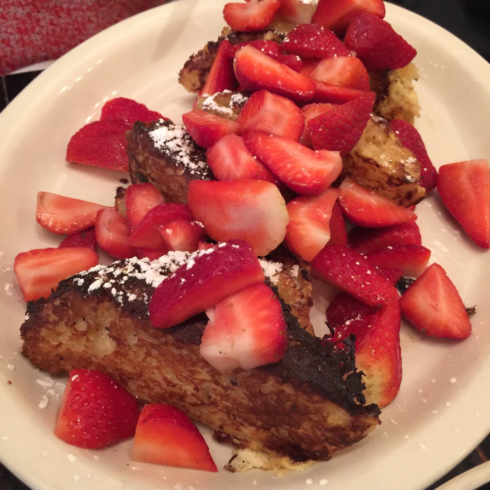 Biscuits French Toast (with Strawberries) at Jacob's Pickles on #foodmento http://foodmento.com/place/883