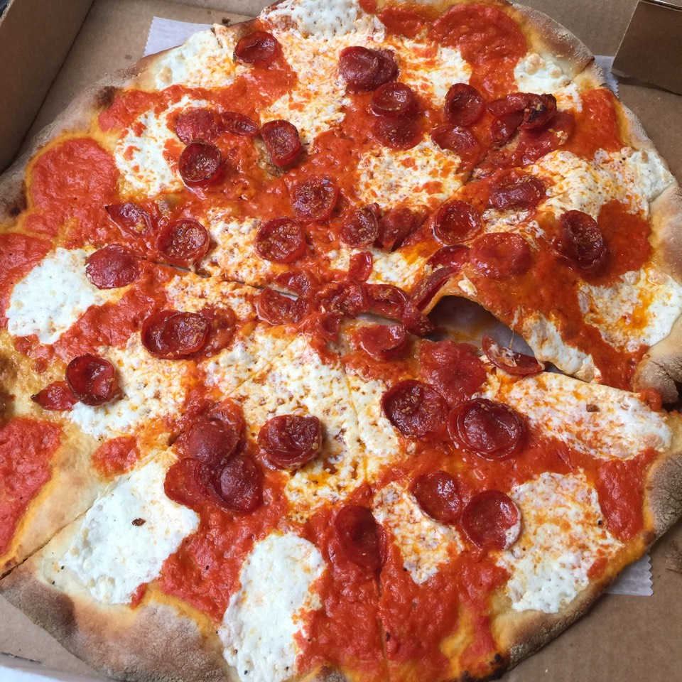 Vodka Pizza with Pepperoni at Rubirosa on #foodmento http://foodmento.com/place/955
