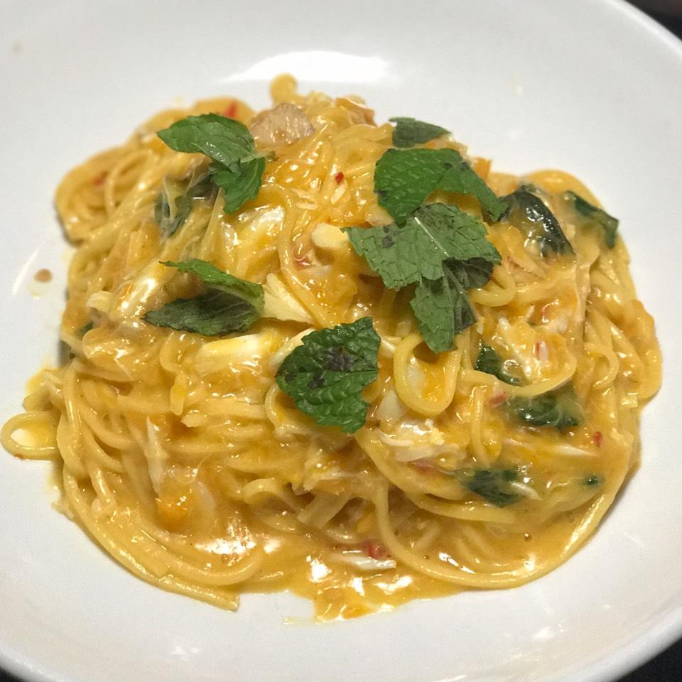 Crab Spaghetti Alla Chittara (Special) at Rubirosa on #foodmento http://foodmento.com/place/955