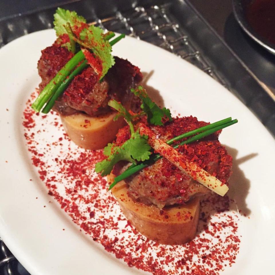 Bone Marrow & Crawfish Dumpling, Peanut Oil at Takashi (CLOSED) on #foodmento http://foodmento.com/place/961
