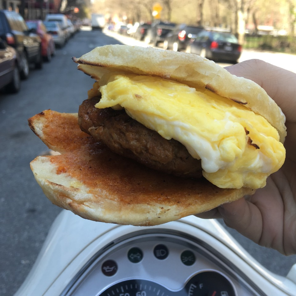 Chorizo & Egg Sandwich at C & B Cafe on #foodmento http://foodmento.com/place/9708