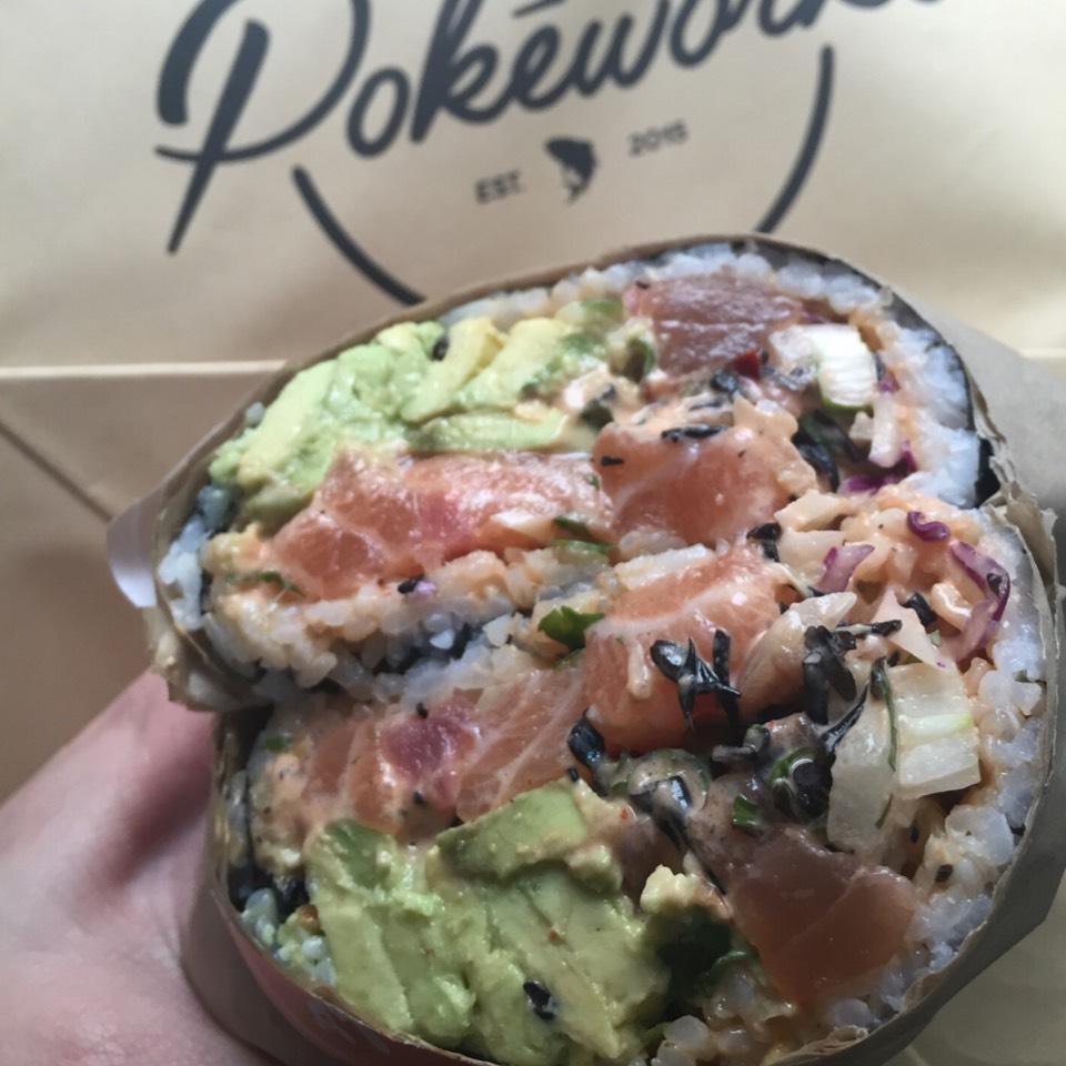 Poke Burrito at Pokēworks on #foodmento http://foodmento.com/place/9808