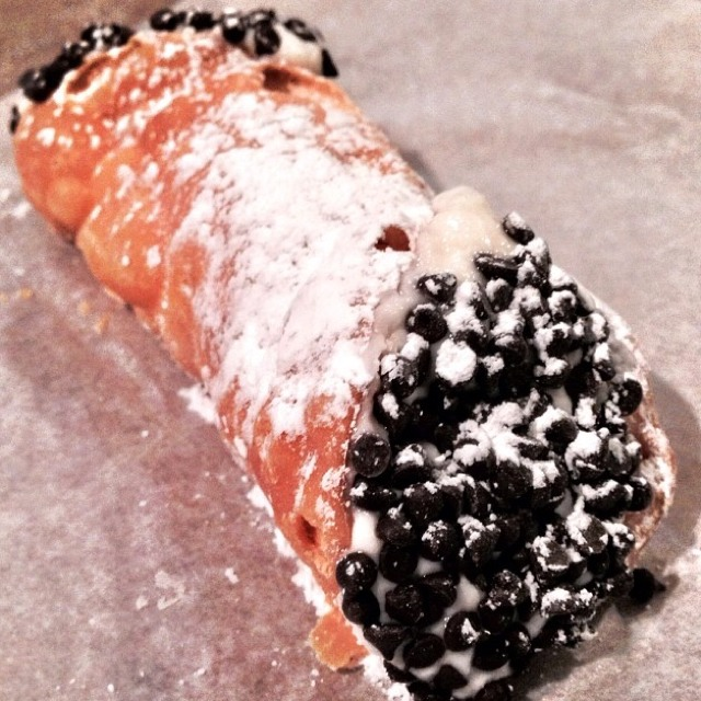 Chocolate Chip Ricotta Cannoli at Mike's Pastry on #foodmento http://foodmento.com/place/350